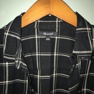 Madewell Tops - Madewell |  black and white plaid oversize flannel
